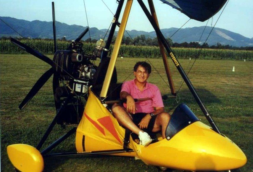 Francesco a bordo del delta-motore